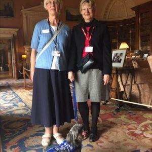 Staff Karen And Eunice At Harewood House Greeting Matilda