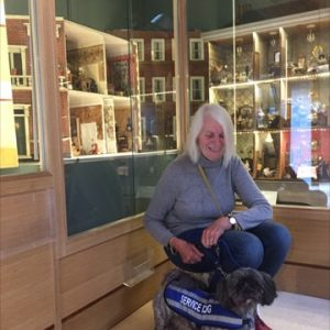Greta And Matilda Enjoying A Visit To Newby Hall And Looking At The Dolls House Exhibition